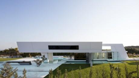 Modern architecture serene sun house